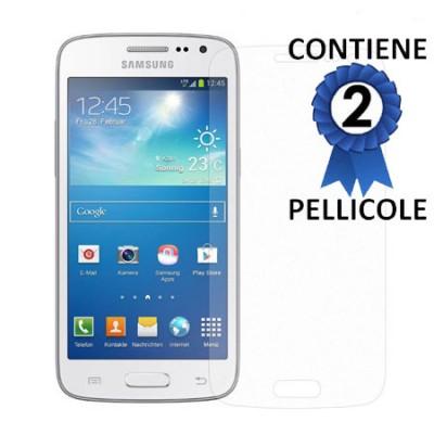 PELLICOLA PROTEGGI DISPLAY per SAMSUNG G386 GALAXY CORE LTE, G3518 CONFEZIONE 2 PEZZI