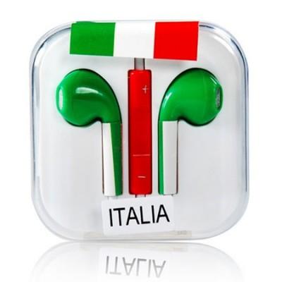 AURICOLARE STEREO per APPLE IPHONE 5, 5S, 5C CON TASTO VOLUME E MICROFONO FANTASIA ITALIAVOLUME