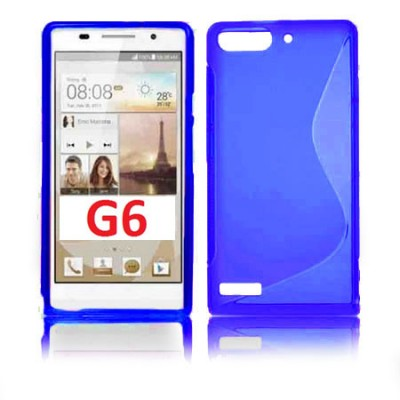CUSTODIA GEL TPU SILICONE DOUBLE per HUAWEI ASCEND G6 COLORE BLU (NO G6 4G)