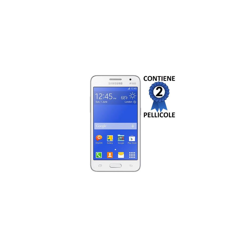 PELLICOLA PROTEGGI DISPLAY per SAMSUNG G355 GALAXY CORE 2 DUOS CONFEZIONE 2 PEZZI