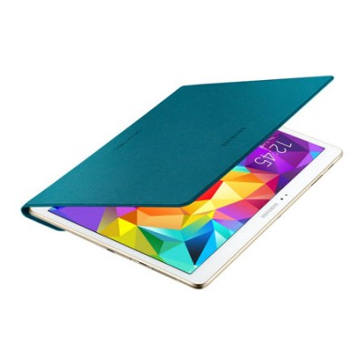 CUSTODIA SIMPLE COVER ORIGINALE SAMSUNG per GALAXY TAB S 10.5, 10.5' POLLICI COLORE BLU MINT EF-DT800BLEGWW BLISTER