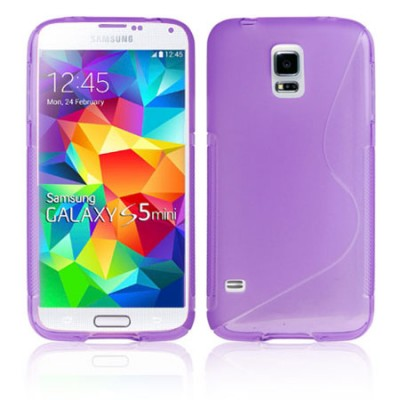 CUSTODIA GEL TPU SILICONE DOUBLE per SAMSUNG G800 GALAXY S5 MINI COLORE VIOLA