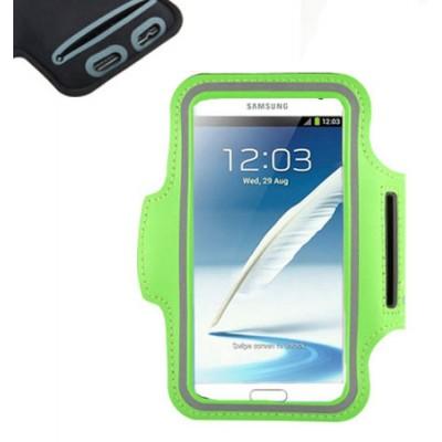 CUSTODIA DA BRACCIO per SAMSUNG N7100 GALAXY NOTE 2, N9000 GALAXY NOTE 3 E MODELLI SIMILARI COLORE VERDE