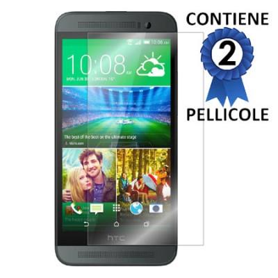 PELLICOLA PROTEGGI DISPLAY per HTC ONE E8 CONFEZIONE 2 PEZZI