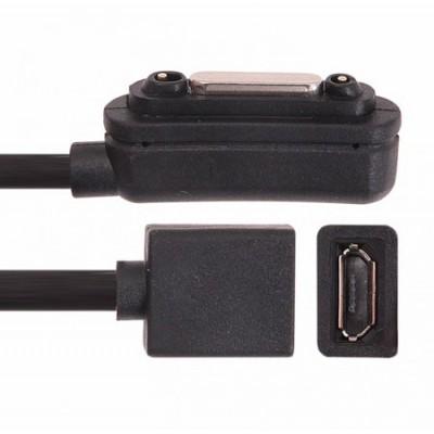 ADATTATORE MAGNETICO per SONY XPERIA Z1, XPERIA Z ULTRA CON ENTRATA MICRO USB FEMMINA CON CAVO COLORE NERO (SOLO CARICA)