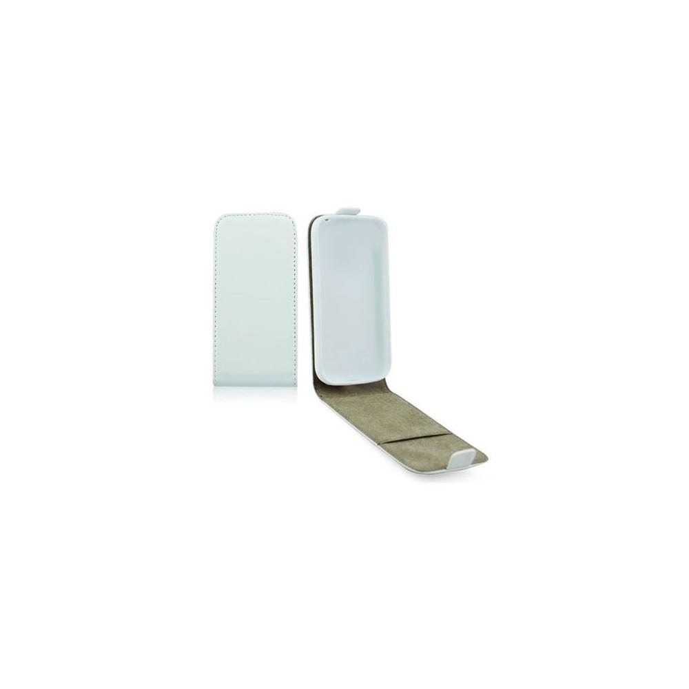 CUSTODIA FLIP VERTICALE SLIM PELLE per LG G3 D850, D855, LS990 CON INTERNO IN TPU SILICONE COLORE BIANCO