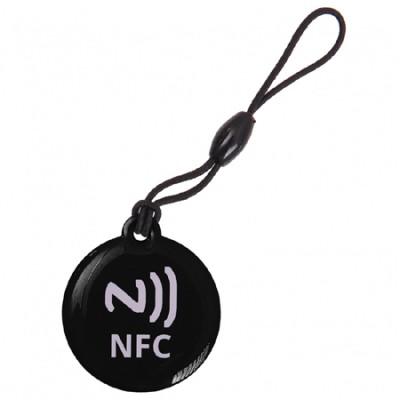 CIONDOLO PORTACHIAVI NFC TAG 137 Byte NTAG203 COLORE NERO