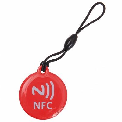 CIONDOLO PORTACHIAVI NFC TAG 137 Byte NTAG203 COLORE ROSSO