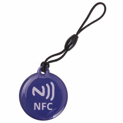 CIONDOLO PORTACHIAVI NFC TAG 137 Byte NTAG203 COLORE BLU