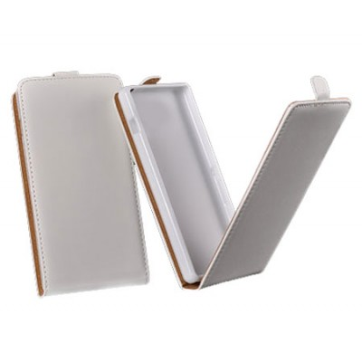 CUSTODIA FLIP VERTICALE SLIM PELLE per APPLE IPHONE 6, IPHONE 6S 4.7' POLLICI CON INTERNO IN TPU SILICONE COLORE BIANCO