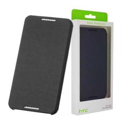 CUSTODIA FLIP ORIZZONTALE ORIGINALE per HTC DESIRE 816 COLORE GRIGIO HC-V950 BLISTER
