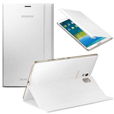 CUSTODIA BOOK COVER ORIGINALE SAMSUNG per GALAXY TAB S 8.4, 8.4' POLLICI COLORE BIANCO EF-BT700BWEGWW BLISTER