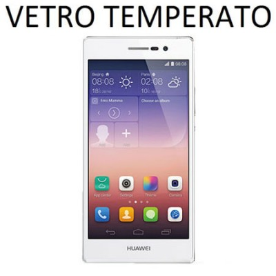 PELLICOLA PROTEGGI DISPLAY VETRO TEMPERATO 0,33mm per HUAWEI ASCEND P7