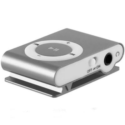 MINI LETTORE MP3 CON CLIP, SLOT MICRO SD E USCITA MINI USB COLORE SILVER