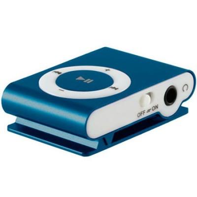 MINI LETTORE MP3 CON CLIP, SLOT MICRO SD E USCITA MICRO USB COLORE BLU