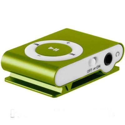 MINI LETTORE MP3 CON CLIP, SLOT MICRO SD E USCITA MINI USB COLORE VERDE