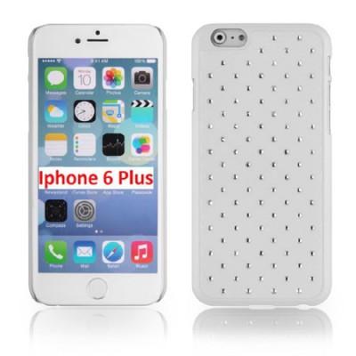 CUSTODIA RIGIDA CON BRILLANTINI per APPLE IPHONE 6 PLUS, IPHONE 6S PLUS 5.5' POLLICI COLORE BIANCO