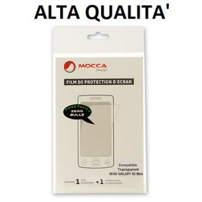 PELLICOLA PROTEGGI DISPLAY per SAMSUNG I8190 GALAXY S3 MINI, I8200 GALAXY S3 MINI VE ALTA QUALITA' MOCCA BLISTER