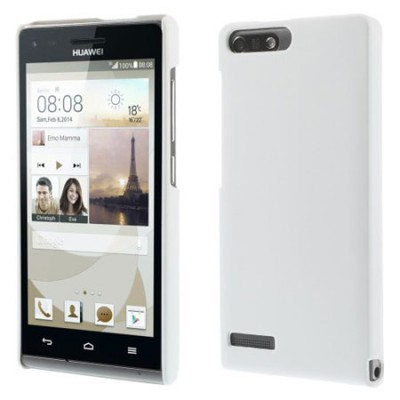 CUSTODIA BACK RIGIDA per HUAWEI ASCEND G6 LTE 4G, ASCEND P7 MINI COLORE BIANCO