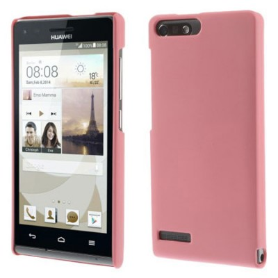 CUSTODIA BACK RIGIDA per HUAWEI ASCEND G6 LTE 4G, ASCEND P7 MINI COLORE ROSA
