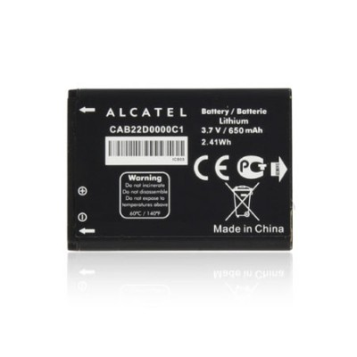BATTERIA ORIGINALE ALCATEL CAB22D0000C1 per ONE TOUCH 506, ONE TOUCH1060, 650 mAh LI-ION BULK