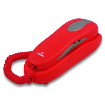 TELEFONO SLIM FISSO A GONDOLA BRONDI NEMO CON 10 MEMORIE A DUE TASTI E INSERTI ANTISCIVOLO COLORE ROSSO