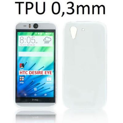 CUSTODIA GEL TPU SILICONE ULTRA SLIM 0,3mm per HTC DESIRE EYE COLORE BIANCO TRASPARENTE