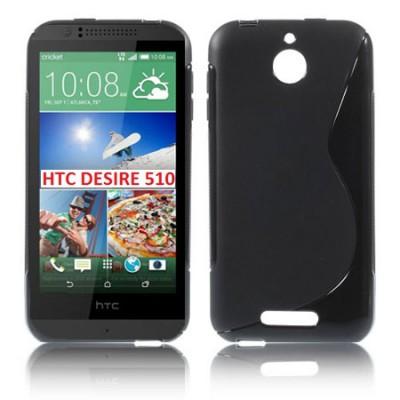 CUSTODIA GEL TPU SILICONE DOUBLE per HTC DESIRE 510 COLORE NERO