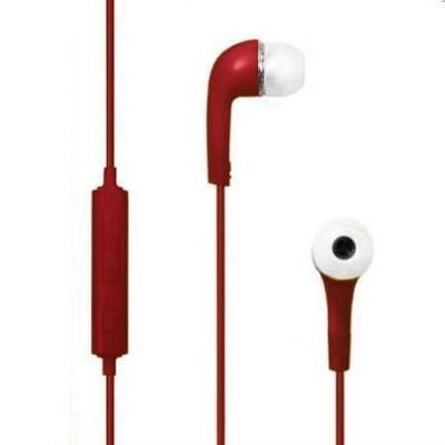 AURICOLARE STEREO per MP3 E MP4 CON TASTO CONTROLLO VOLUME E PLAY/STOP COLORE ROSSO HY-330R