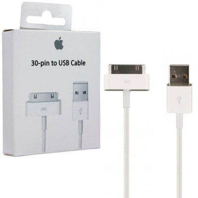CAVO USB ORIGINALE APPLE MA591 DA 30 PIN A USB per IPHONE, IPAD, IPOD COLORE BIANCO BLISTER