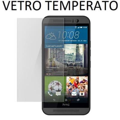 PELLICOLA per HTC ONE M9, ONE M9 PRIME CAMERA IN VETRO TEMPERATO 0,33mm - ATTENZIONE: copre parzialmente la parte frontale!