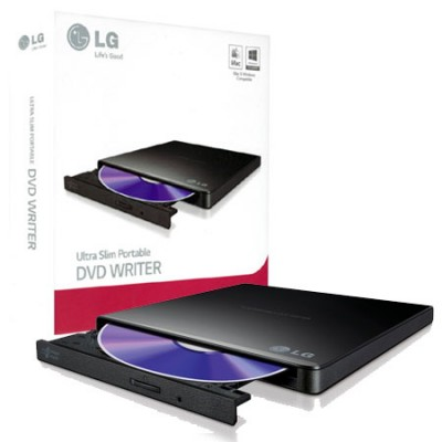 MASTERIZZATORE DVD/CD PORTATILE ULTRA SLIM USB 2.0 CON TECNOLOGIA SILENT PLAY E TV CONNECTIVITY COLORE NERO GP57EB40 LG
