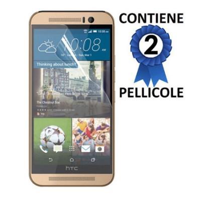 PELLICOLA PROTEGGI DISPLAY per HTC ONE M9 PLUS CONFEZIONE 2 PEZZI