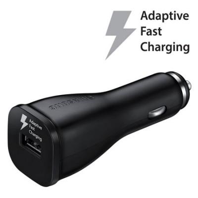 CARICATORE AUTO USB ORIGINALE SAMSUNG FAST CHARGING EP-LN915UBEGWW 2000mAh per GALAXY S6, NOTE EDGE COLORE NERO BULK