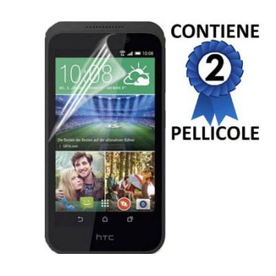 PELLICOLA per HTC DESIRE 526G DUAL SIM, DESIRE 526G+ DUAL SIM, DESIRE 526 - PROTEGGI DISPLAY CONFEZIONE 2 PEZZI
