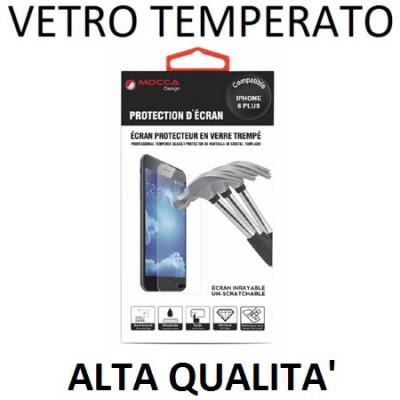 PELLICOLA PROTEGGI DISPLAY VETRO TEMPERATO 0,33mm per APPLE IPHONE 6 PLUS, IPHONE 6S PLUS 5.5' POLLICI ALTA QUALITA' MOCCA BLIST