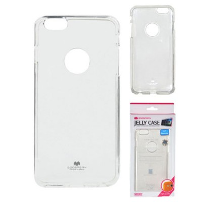 CUSTODIA GEL TPU SILICONE TRASPARENTE per APPLE IPHONE 6 PLUS, 5.5' POLLICI ALTA QUALITA' MERCURY BLISTER