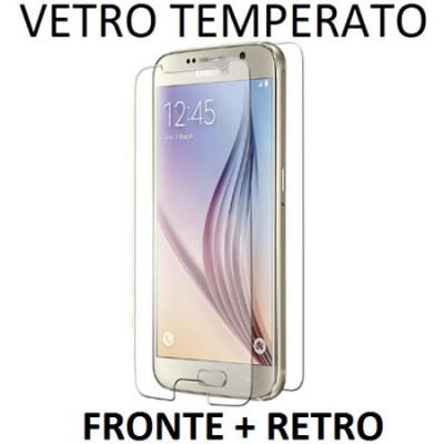 PELLICOLA PROTEGGI DISPLAY VETRO TEMPERATO 0,33mm per SAMSUNG SM-G920 GALAXY S6 FRONTE + RETRO