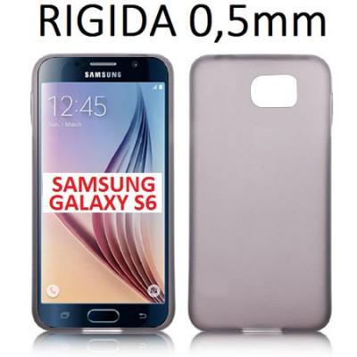 CUSTODIA BACK RIGIDA SLIM DA 0,5mm per SAMSUNG SM-G920 GALAXY S6 COLORE NERO