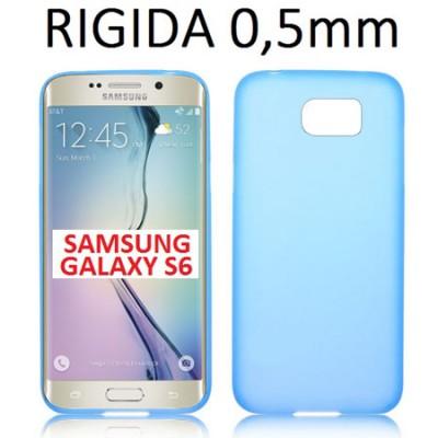 CUSTODIA BACK RIGIDA SLIM DA 0,5mm per SAMSUNG SM-G925 GALAXY S6 EDGE COLORE BLU