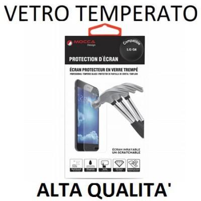 PELLICOLA PROTEGGI DISPLAY VETRO TEMPERATO 0,33mm per LG G4, H815 ALTA QUALITA' MOCCA BLISTER