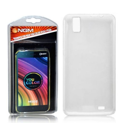 CUSTODIA ORIGINALE NGM IN GEL TPU SILICONE TRASPARENTE per YOU COLOR M502, P508 BLISTER
