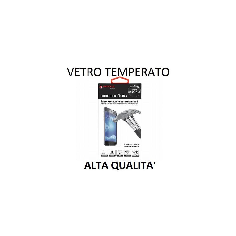 PELLICOLA PROTEGGI DISPLAY VETRO TEMPERATO 0,33mm per WIKO RAINBOW UP ALTA QUALITA' MOCCA BLISTER