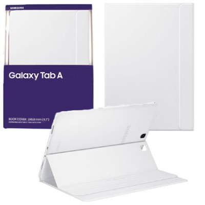 CUSTODIA BOOK COVER IN PELLE ORIGINALE SAMSUNG per GALAXY TAB A 9.7, SM-T550 COLORE BIANCO EF-BT550PWEGWW BLISTER