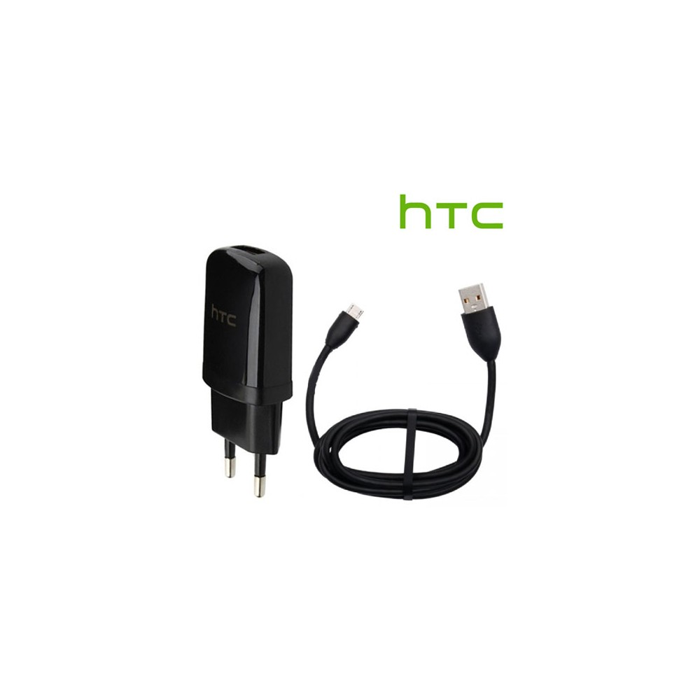 TRAVEL CASA USB TC-E250 + CAVO USB DC-M410 ORIGINALE HTC per DESIRE 610 POTENZA 1000 mAh COLORE NERO BULK SEGUE COMPATIBILITA'..