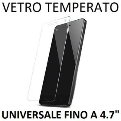 PELLICOLA PROTEGGI DISPLAY UNIVERSALE VETRO TEMPERATO 0,33mm PER DISPOSITIVI FINO A 4.7' POLLICI DIMENSIONI 133 mm X 64 mm