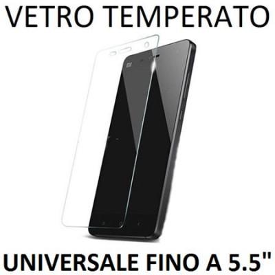 PELLICOLA PROTEGGI DISPLAY UNIVERSALE VETRO TEMPERATO 0,33mm PER DISPOSITIVI FINO A 5.5' POLLICI DIMENSIONI 147 mm X 72 mm
