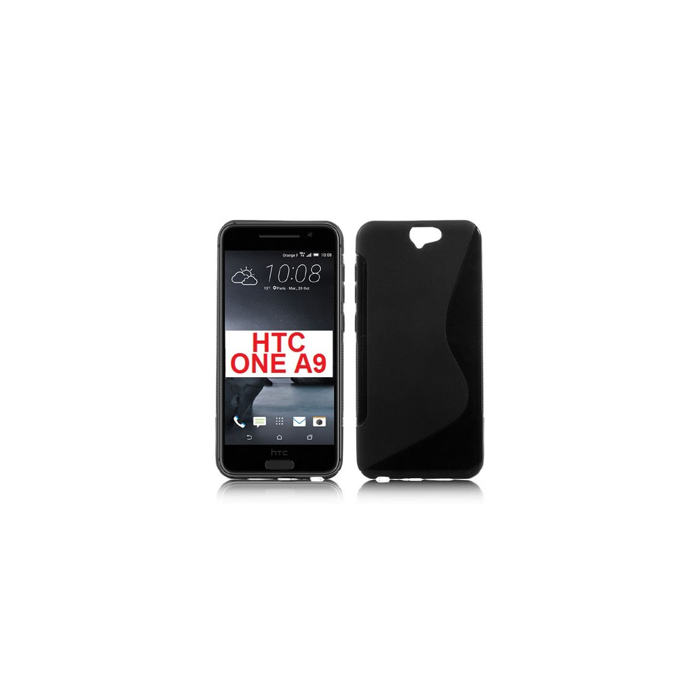 CUSTODIA GEL TPU SILICONE DOUBLE per HTC ONE A9 COLORE NERO