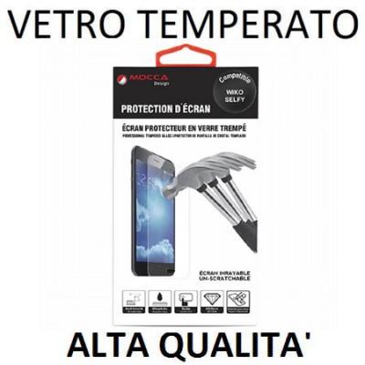 PELLICOLA PROTEGGI DISPLAY VETRO TEMPERATO 0,33mm per WIKO SELFY 4G ALTA QUALITA' MOCCA BLISTER
