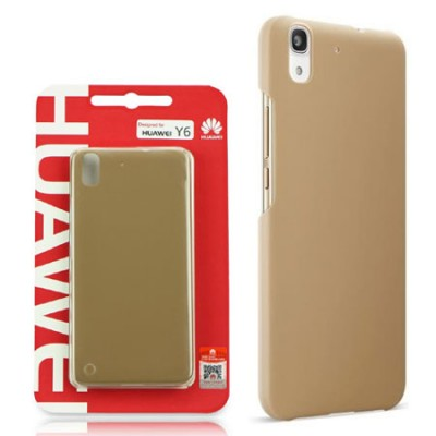 CUSTODIA BACK CASE POSTERIORE RIGIDA SLIM 0,8mm ORIGINALE per HUAWEI Y6, HONOR 4A COLORE MARRONE CHIARO BLISTER